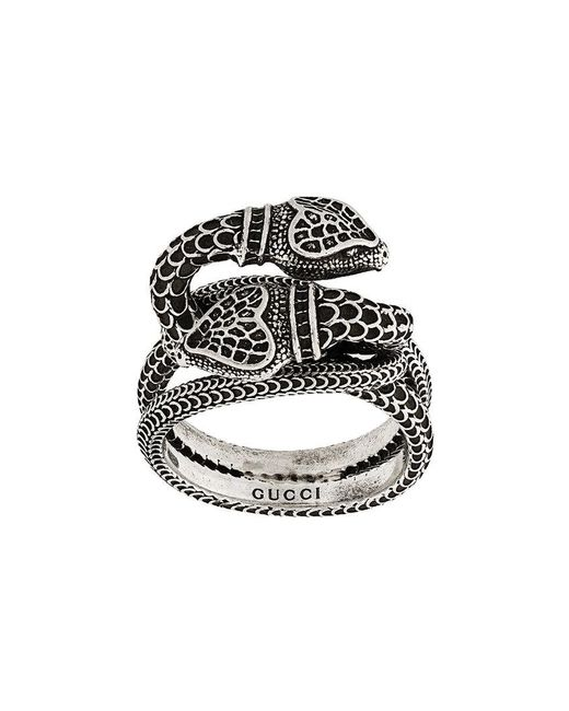 Gucci - Metallic Garden Snakes Ring - Lyst