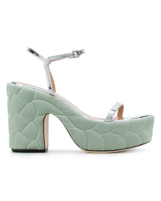 Marco De Vincenzo - Metallic Quilted Sandals - Lyst