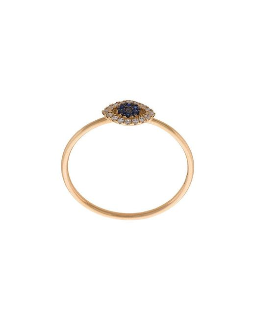 Loquet London - Blue Evil Eye Ring - Lyst