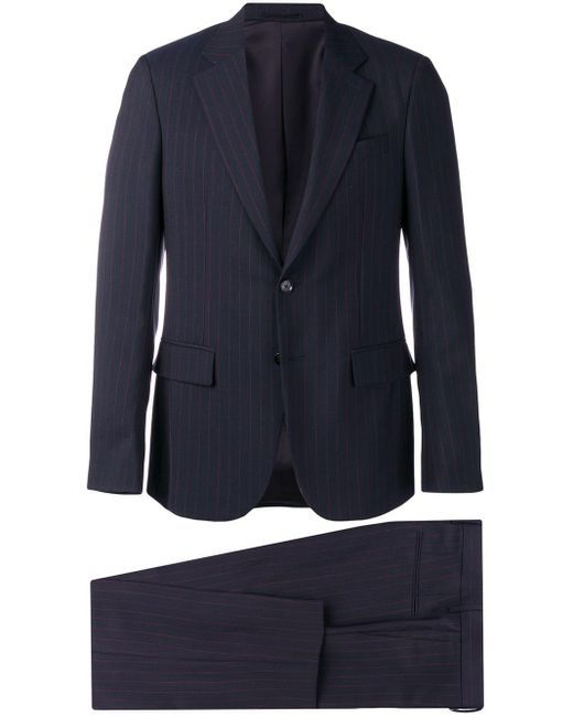 Versace Blue Pinstriped Two-piece Suit for men