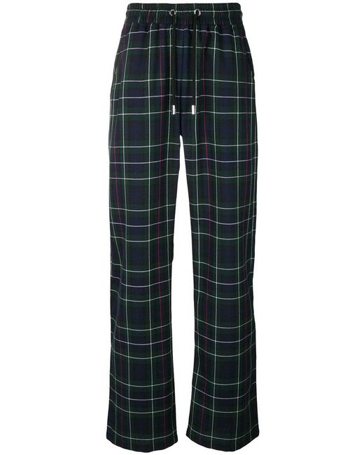 Blood Brother - Blue Plaid Track Pants for Men - Lyst
