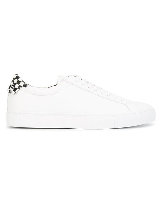 Givenchy | White Checkered Heel Sneakers for Men | Lyst