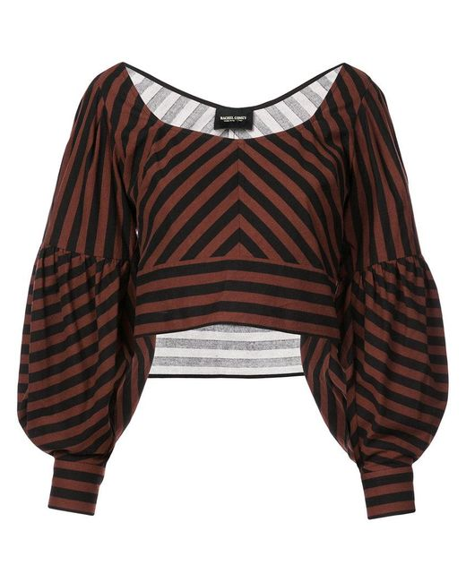 oversized sleeve cropped top - Brown Rachel Comey