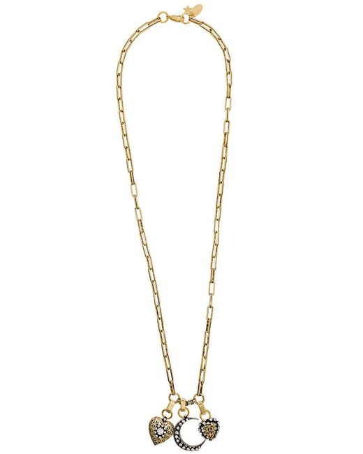 Rada' - Metallic Long Pendant Necklace - Lyst