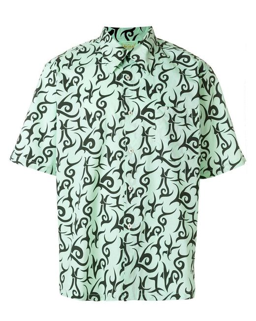Aries - Green Geometric Pattern Shirt for Men - Lyst