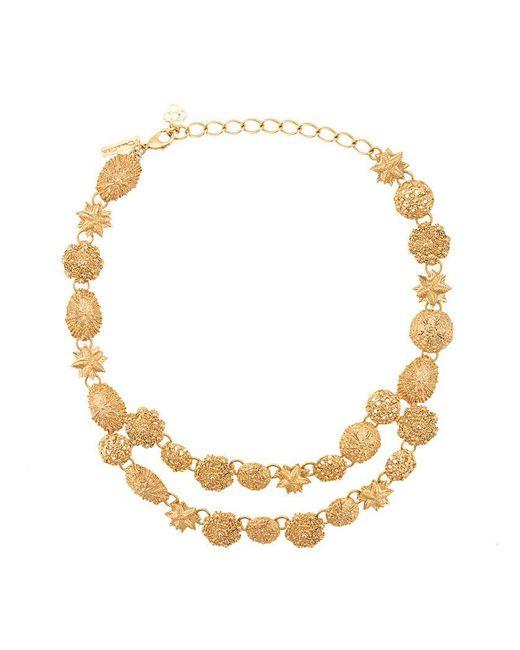 Oscar de la Renta - Metallic Sea Charm Necklace - Lyst