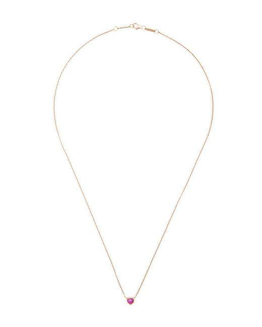 Anita Ko - Metallic Embellished Heart Necklace - Lyst