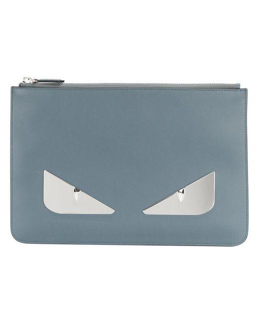 Fendi - Blue Bag Bugs Clutch Bag for Men - Lyst