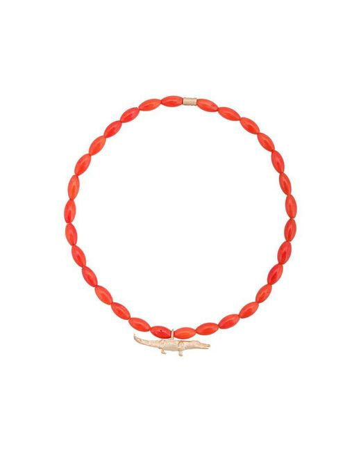 Luis Morais - Red Medium Croc Spacer Bracelet - Lyst