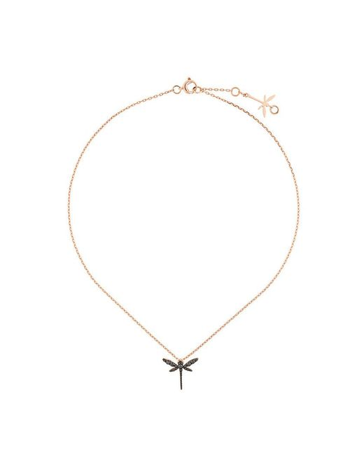 Anapsara - Black Dragonfly Necklace - Lyst