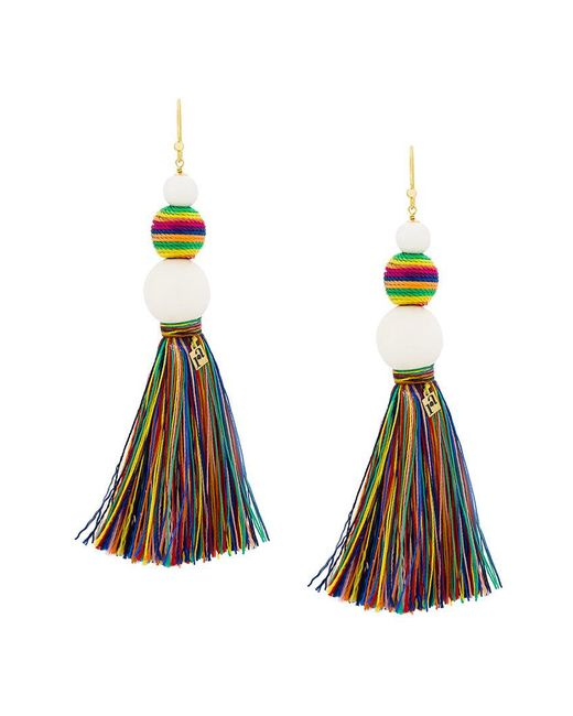 Rosantica - White Fringed Drop Earrings - Lyst