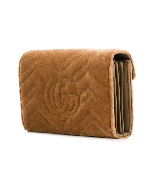... Gucci - Brown Square Crossbody Bag - Lyst ... 0efda289e5721