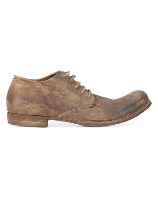 A Diciannoveventitre | Brown Distressed Derby Shoes for Men | Lyst