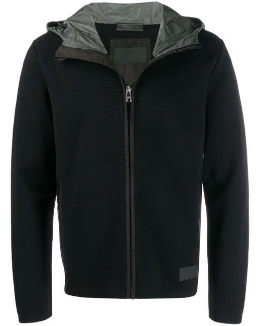 Prada Black Hooded Jacket for men