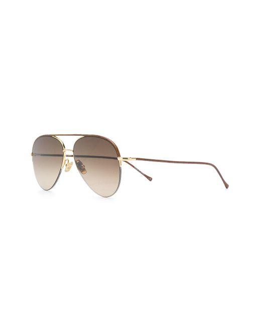 22463c1409f6 ... Belstaff - Brown Phoenix Aviator Sunglasses for Men - Lyst ...