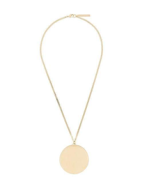 Givenchy | Metallic Circular Pendant Necklace | Lyst