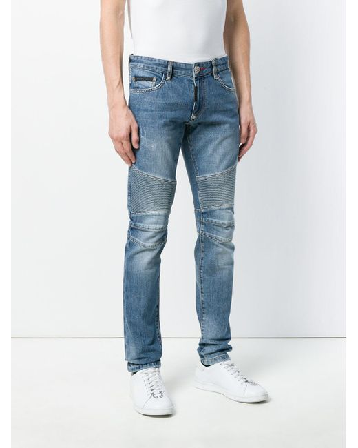 ribbed skinny jeans - Blue Philipp Plein
