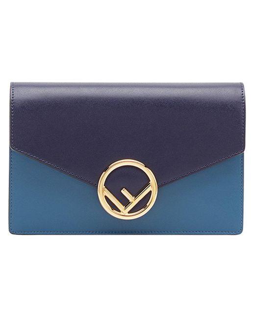21d9f56ad715 Fendi - Blue Wallet On Chain Mini Bag - Lyst ...