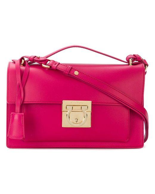 Ferragamo - Pink Gancio Lock Bag - Lyst