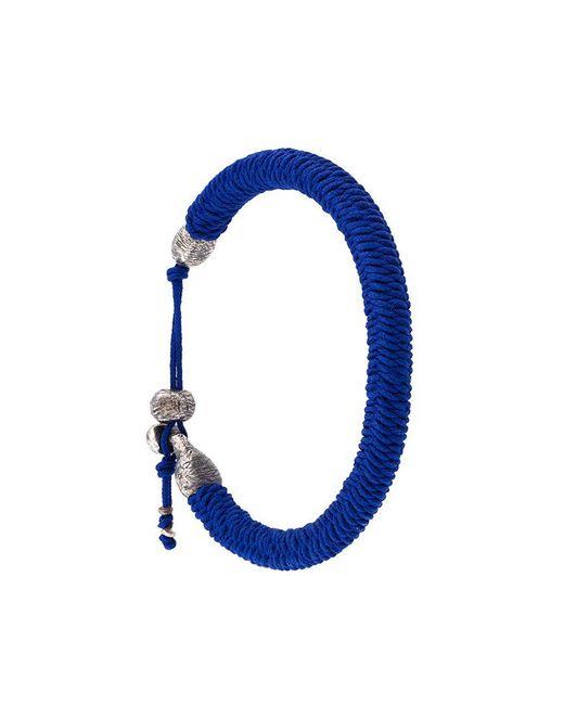 M. Cohen | Blue Woven Bracelet for Men | Lyst