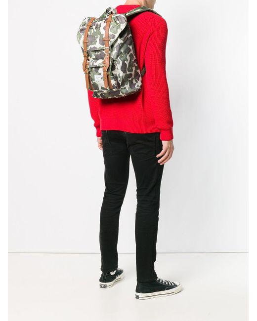... Lyst Herschel Supply Co. - Green Little America Men s Backpack In  Multicolour for Men ... 75ecac9c6a