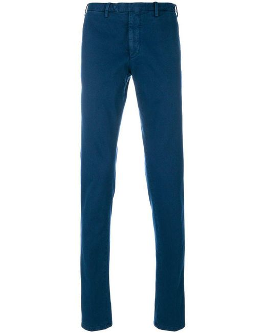 Dell'Oglio - Blue Chino Trousers for Men - Lyst