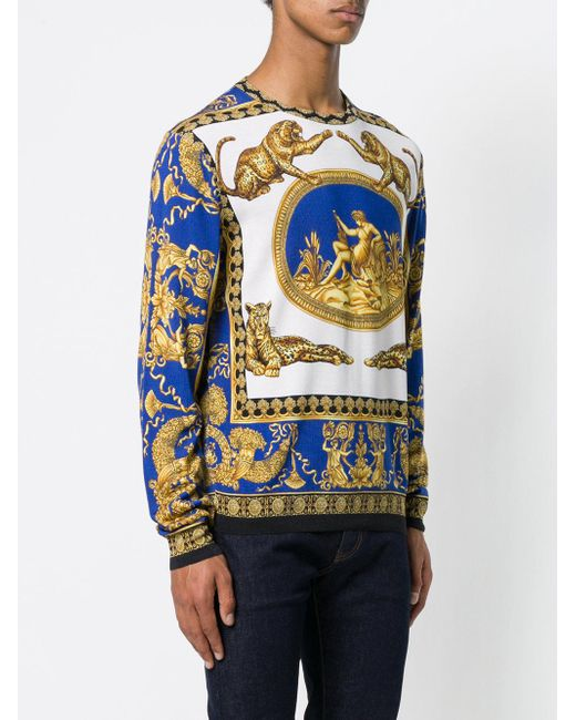 signature print jumper - Multicolour Versace Shipping Discount Sale Outlet Locations For Sale Low Price Sale Buy Cheap Explore SMrVib