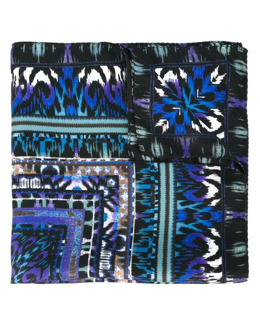 Etro | Blue Printed Scarf for Men | Lyst
