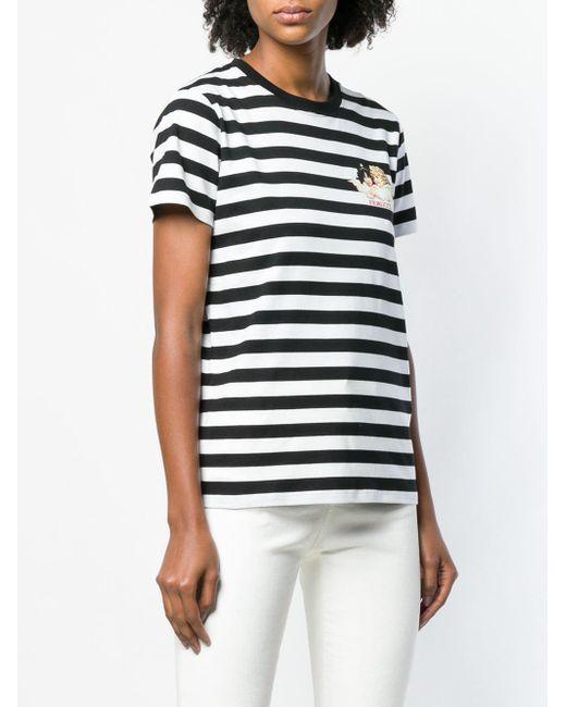 a64c1e29de3 ... Fiorucci - Black Striped Logo T-shirt - Lyst ...