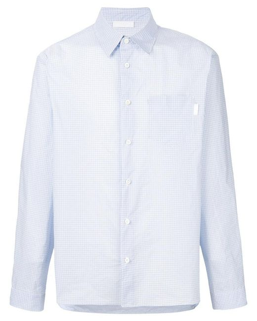 Prada - Blue Printed Polyester Blend Shirt for Men - Lyst