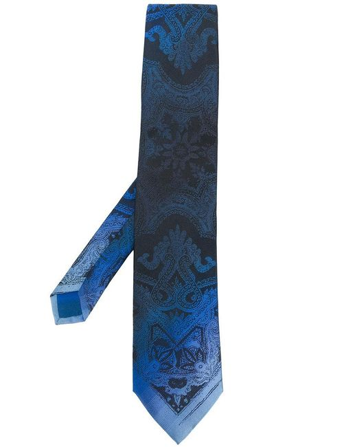Etro   Blue Faded Paisley Tie for Men   Lyst