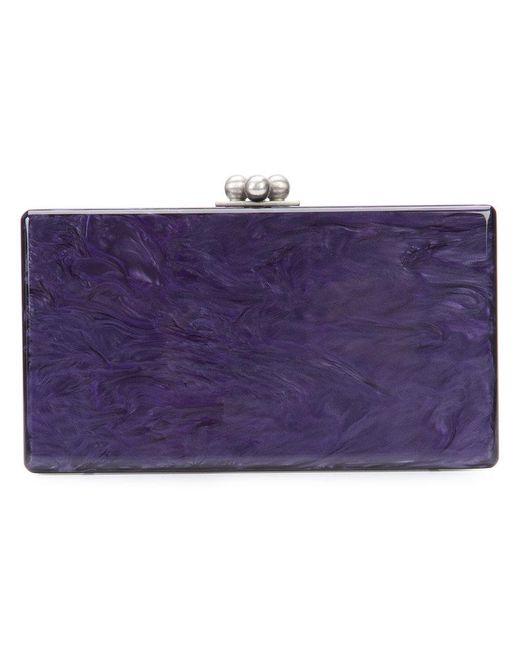 Edie Parker - Purple Box Clutch Bag - Lyst