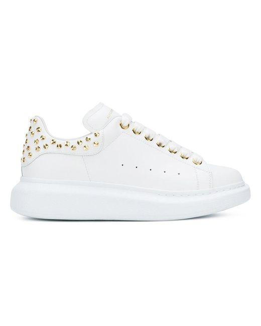 Alexander McQueen - White Stud Detail Low-top Sneakers - Lyst