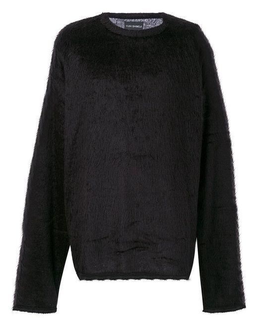 Yuiki Shimoji - Black Maglione Ampio Testurizzato for Men - Lyst