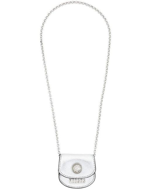 Versus  - Metallic Coin Bag Necklace - Lyst
