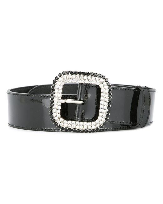 KATE CATE - Black Embellished Buckle Belt - Lyst