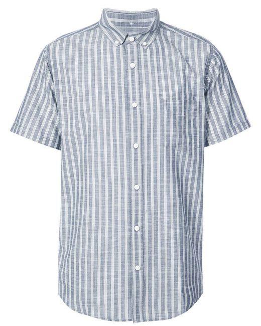 Onia - Blue Eddy Mandarin Collar Shirt for Men - Lyst