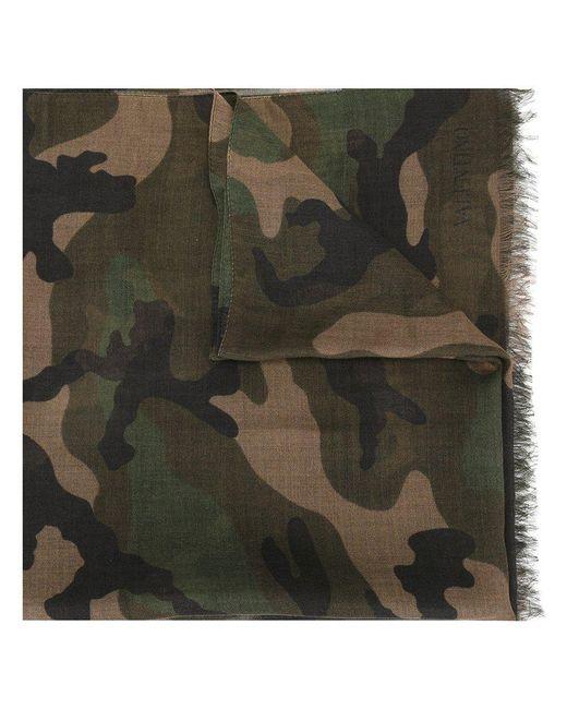 Valentino   Green Garavani Camouflage Scarf for Men   Lyst