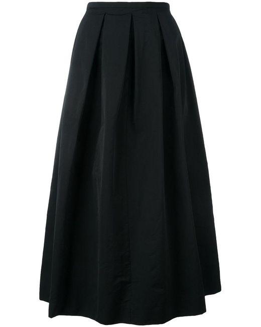Rochas | Black Pleated Skirt | Lyst
