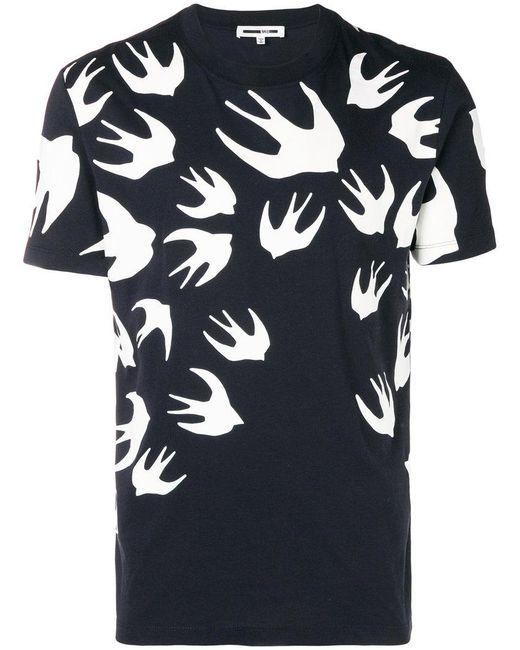 McQ Alexander McQueen - Black Bird Print T-shirt for Men - Lyst