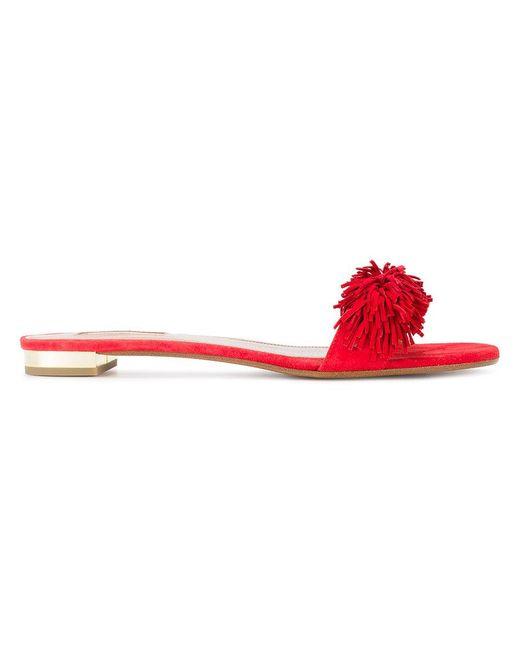 Aquazzura | Red 'wild Thing' Slide Sandals | Lyst