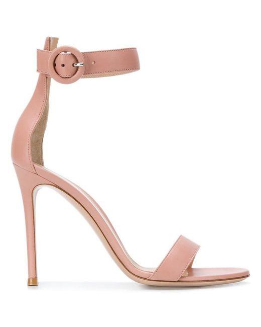 837c418bc4e Lyst - Gianvito Rossi Portofino 105 Sandals in Pink - Save 64%