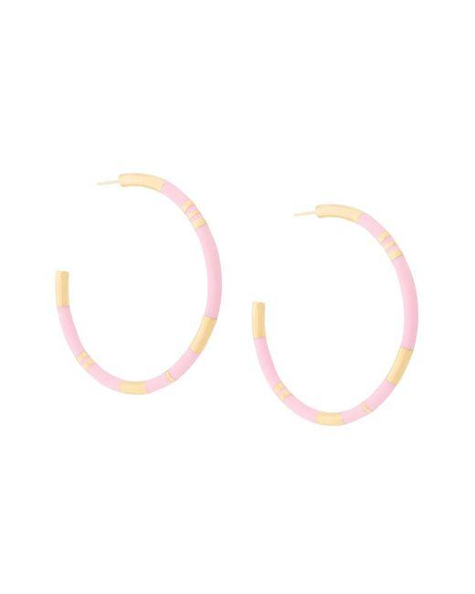Aurelie Bidermann - Metallic Positano Hoop Earrings - Lyst