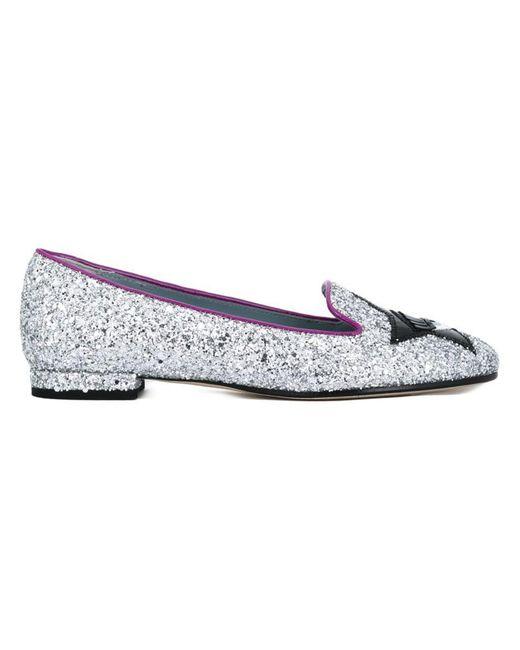 Chiara Ferragni | Metallic 'flirting' Glitter Slippers | Lyst