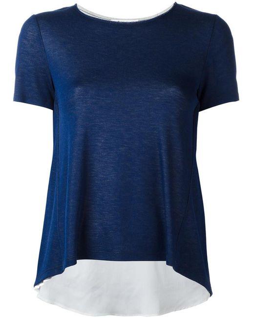 Dondup | Blue Flared T-shirt | Lyst