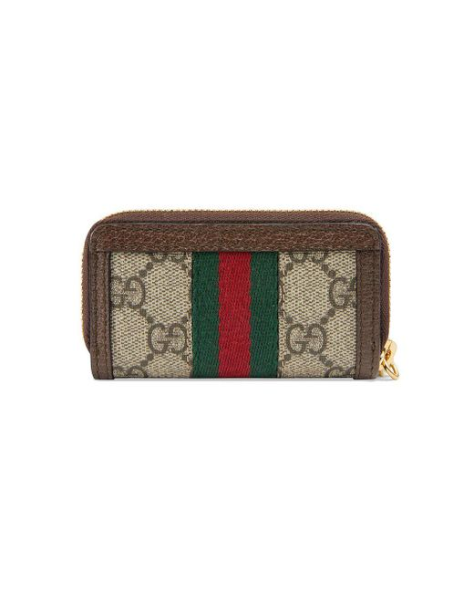70924ed6e90 ... Gucci - Brown Ophidia GG Key Case - Lyst ...