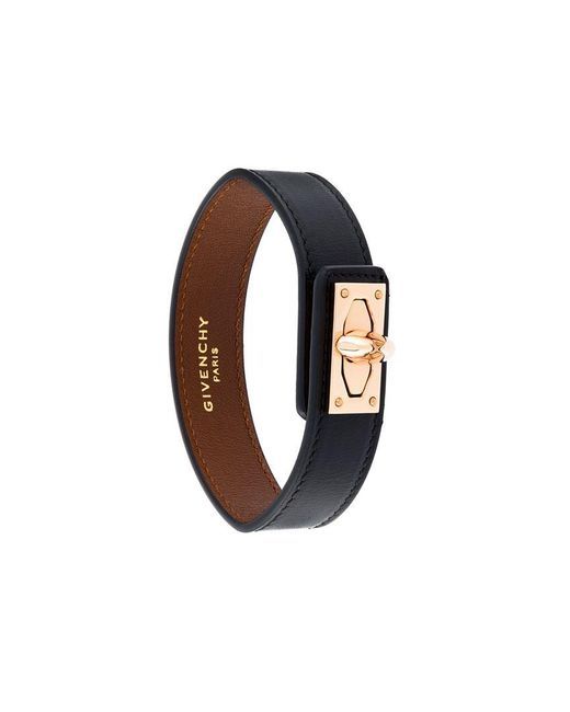 Givenchy - Black 'shark Lock' Bracelet - Lyst