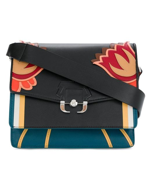 Paula Cademartori - Black Floral Shoulder Bag - Lyst