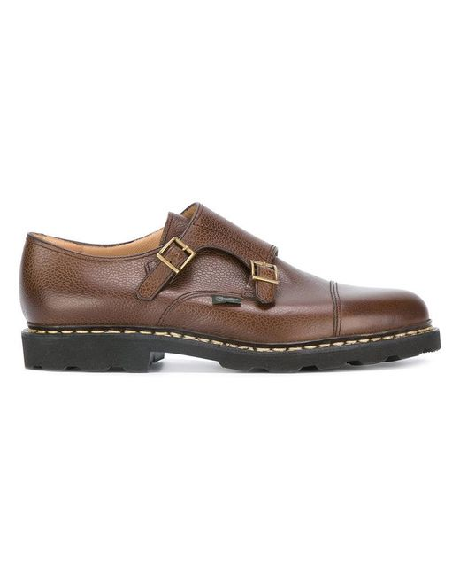 Paraboot | Brown Double-buckle Monk Shoes for Men | Lyst