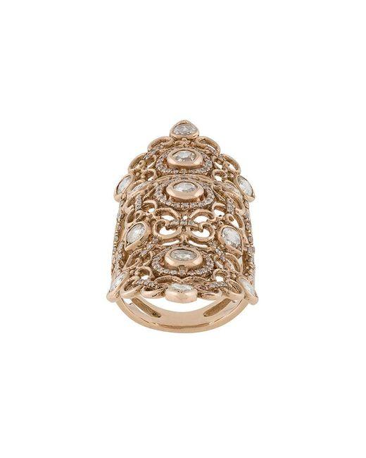 Loree Rodkin - Metallic 18kt Rose Gold And Diamond Long Finger Ring - Lyst